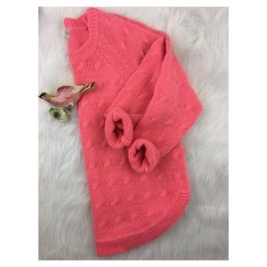 MADEWELL Wallace Cable Knit Sweater Coral Sz XS