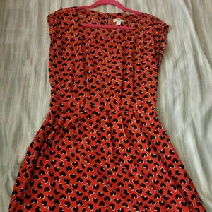 Red old navy dress with blue hearts