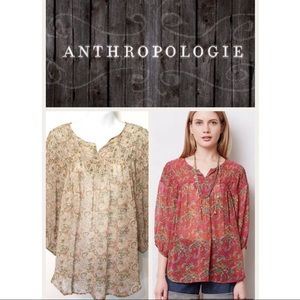 Lil by Anthropologie Clara Bohemian Peasant Blouse