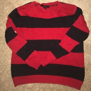 Red/Navy knit sweater