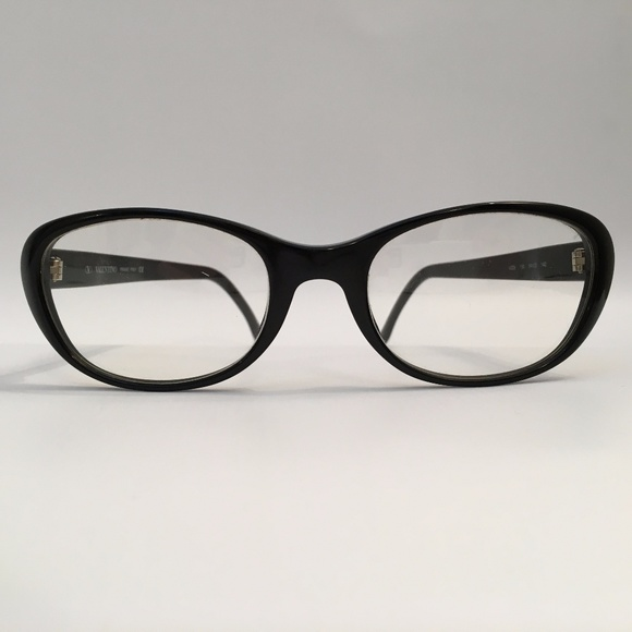 58b77e29f98 Vintage Valentino Black Eyeglasses Frames. M 59e95aeff739bcf6a7003c32