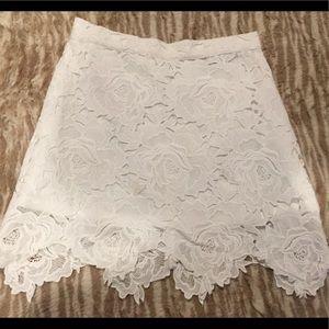 White Lace mini skirt