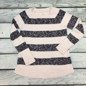 lou & grey by Loft striped sweater with pockets S