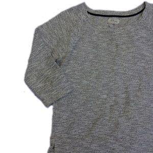 Lou & Grey Loft Space Dye Knit Gold Detail Sweater