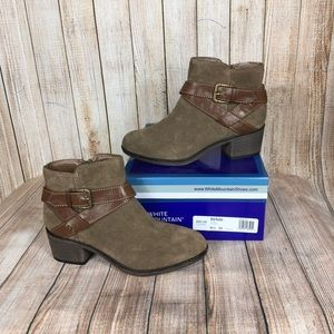 White Mountain genuine suede booties