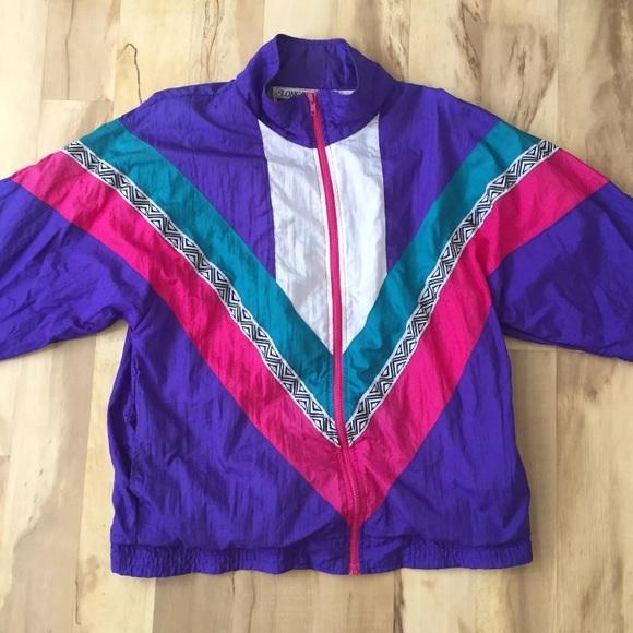 fb44855b667ec Vintage 90s Streetwear Windbreaker Colorblock