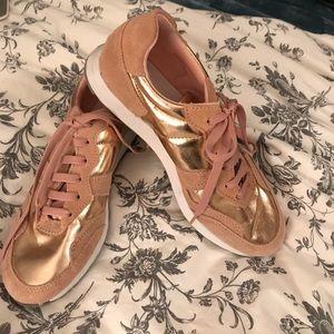 Rose gold Top Shop sneakers