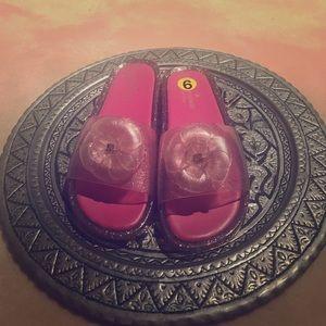 Pink Kate Spade Gel Sliders