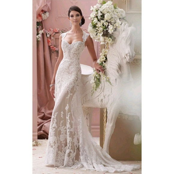 David Tutera Mon Cheri Wedding Gown SZ 2 New! Tags