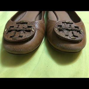 Tory Burch All Leather Tan flats