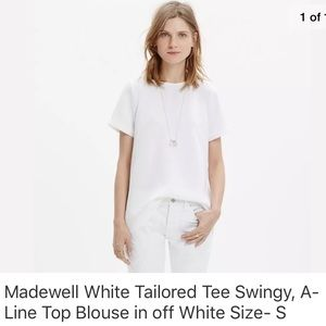 MADEWELL Tailored Tee in Off-White