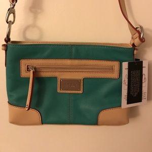 Sea Green small cross-body purse