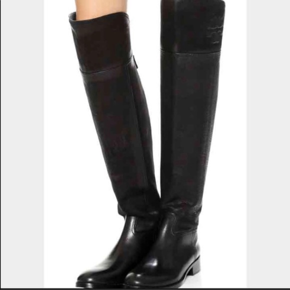 948d832bdc9 Tory Burch Simone Over The Knee 35MM Black Boots