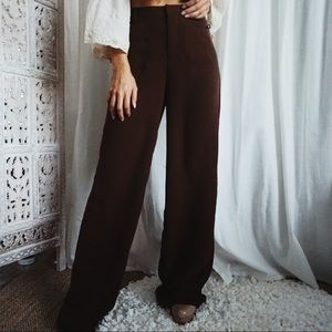 NWT • Forever21//Brown Wide Leg Trousers