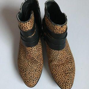 Yosi Samra Leopard Print Booties