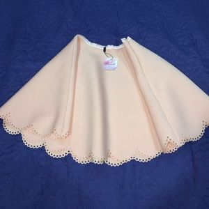 Brand New Chicwish Petal Airy Skater Skirt Pink