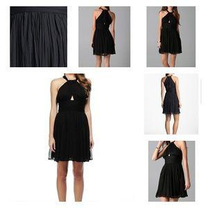 NWT BB Dakota Garland Black Halter Dress