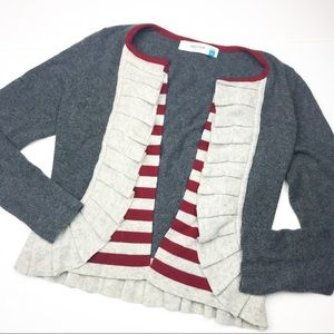Anthropologie Sparrow Masked Stripes Cardigan.
