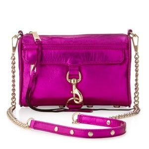 Rebecca Minkoff MAC Metallic Bag, Magenta
