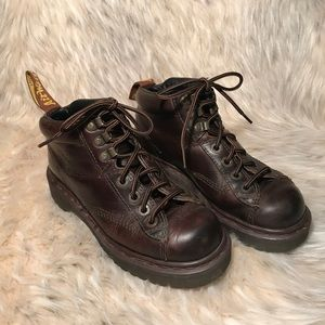 Dr. Martens brown ankle boots women's 6
