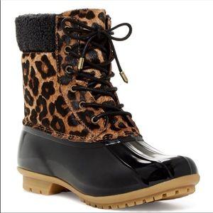 Sam Edelman Claf Hair Leopard Rain Boots