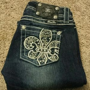 Miss Me Boot Cut Bling Jeans!