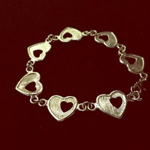 Heart rose gold bracelet/stainless steel.