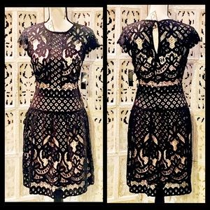 ✨NWT✨ Cap Sleeve Black Lace & Nude Lining Dress🌹
