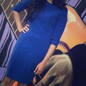 Royal Blue Knee Length Dress