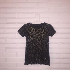 Black T-shirt with stars