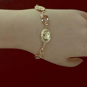 Hello kitty rose gold bracelet/ stainless steel.