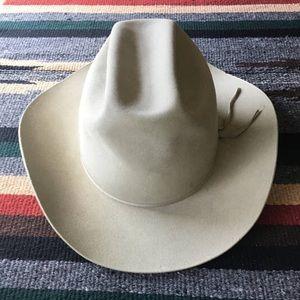 Worn Vintage Tan Felt Ranchcraft 7 1/8 Cowboy Hat