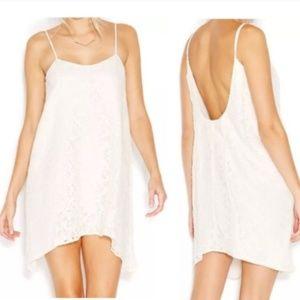 BCBGeneration White Ivory Lace Shift Dress