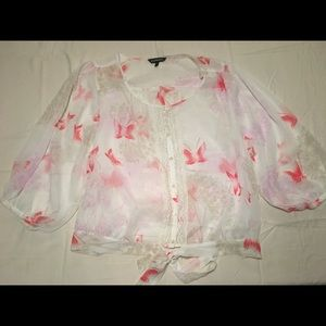 Express floral blouse never worn