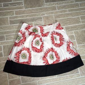 LEIFSDOTTIR ANTHROPOLOGIE Floral Burst Skirt sz 8