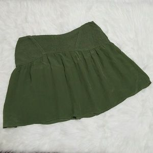 Zara Basic olive green mini skirt
