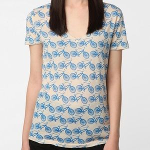 Urban Outfitters Bicycle Print Short Sleeve Tee