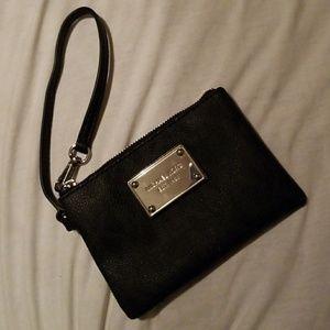 Michael Kors wristlet silver Hardware black