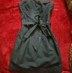 Abercrombie & Fitch XS navy blue strapless dress