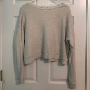 Semi cropped sweat shirt