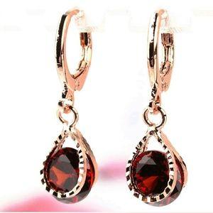 14K gold plated Austrian Crystal Dangle Earrings