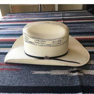 Vintage Justin Straw Cowboy Hat - Size 7 1/8