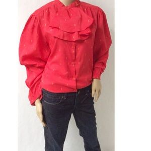 Yellow & Red Vintage Top Size 18