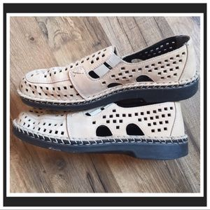 Rieker Perforated Slip-on Loafers