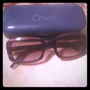Chloe Purple Tortoise Sunglasses
