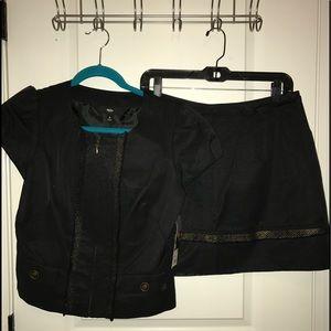 Jacket and skirt set