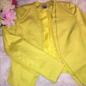 Bright yellow new blazer NWOT