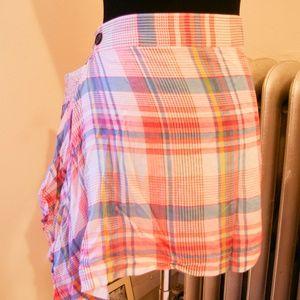 Punk Plaid Wrap Skirt