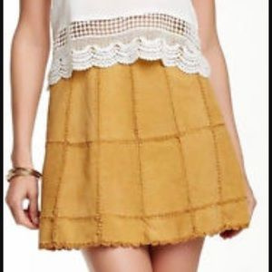 Free People cow leather skirt