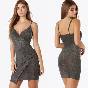 Shimmer Wrap Bodycon Party Dress Small